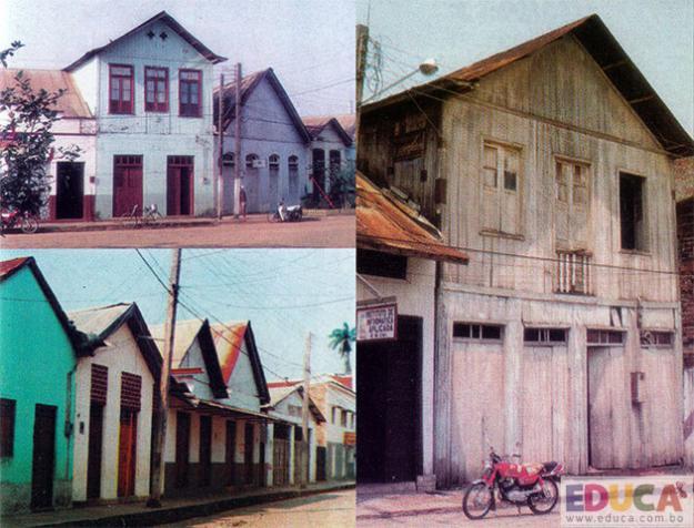 Arquitectura de Cobija, viviendas coloniales del año 1920. Pando, Bolivia