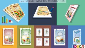 Carátulas para cuadernos de los estudiantes