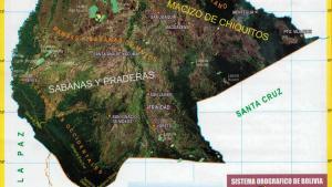 Mapa orográfico del Departamento de Beni - Mapas de Bolivia