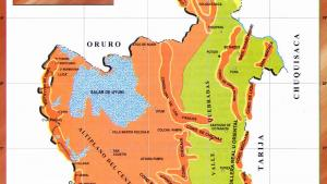 Mapa orográfico del Departamento de Potosí - Mapas de Bolivia