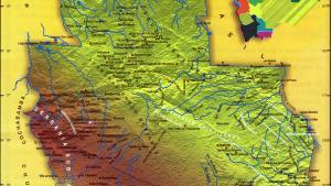 Mapa orográfico del Departamento de Santa Cruz - Mapas de Bolivia