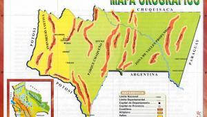 Mapa orográfico del Departamento de Tarija - Mapas de Bolivia