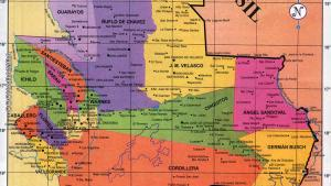 Mapa Político del Departamento de Santa Cruz - Mapas de Bolivia