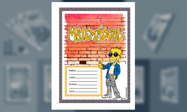 Carátula para cuaderno de Matemáticas # 4 (tamaño carta)